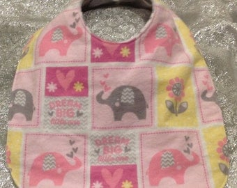 Girl elephant dream big reversible bib