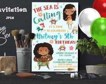 Moana Invitation - Moana Digital Invitation - Disney Moana Printable Invitation - Moana Party - Moana Birthday Invitation