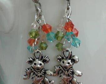 Grateful Dead Bear Fiesta Earrings