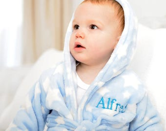 Personalised Star Soft Dressing Gown 18 To 24 Months