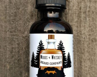 Woods and Whiskey Beard Company - The Woodsman scented beard oil