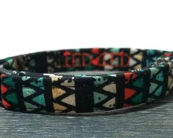 Geometric Cat Collar,Triangle cat collar, Cat Collars, Breakaway Collars, Cotton Cat Collars, Cat Collars, Kitty Collar, Aztec Cat Collar
