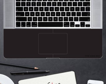 """AtSkins Your Name is the Brand - Black Palmrest Skins Personalized fit for: 15"""" MacBook Pro Unibody wrist rest protection"""