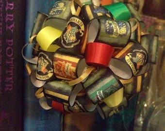 Harry Potter Inspired Hogwarts House Ribbon Ornament