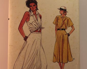 Vintage Sewing Pattern Vogue Top/Skirt 9245 Size 8-12