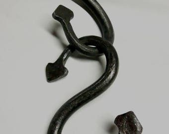 Forged Serpant Tail S-Hook