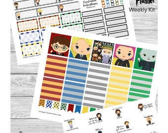 Wizard School; Erin Condren Teacher Planner Stickers; PRINTABLE with Cut Files; Weekly Layout Sticker Kit for Lesson Plan Pages