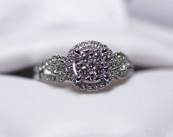 18KW Diamond Engagement Ring White Gold