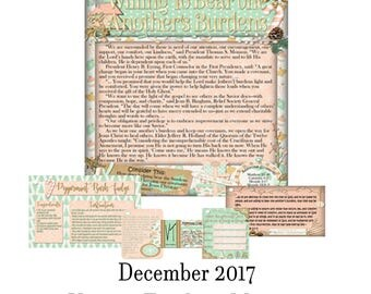2017 December Visiting Teaching Message: Willing To Bear One Another's Burdens