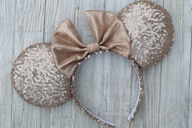 rose gold minnie ears matte rose gold minnie ears disney. Black Bedroom Furniture Sets. Home Design Ideas