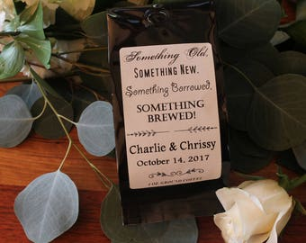Wedding Coffee Favors - Something Old, Something New, Something Borrowed, Something Brewed