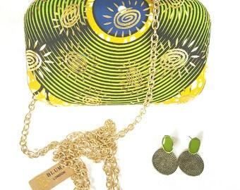 African print clutch bag Ankara clutch bag Box clutch Fabric box clutch Tribal clutch bag, Bright coloured Bag Clutch Bag Accessories Gift