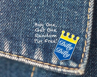 BUY 1, GET 1 Random Pin Free! Dilly Dilly Meme Enamel Pin Funny Pin Badge Internet Meme Lapel Pin Soft Enamel Pin Beer Enamel Pin for Men