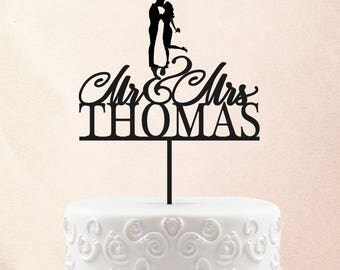 Customized Wedding Cake Topper, Personalized Cake Topper for Wedding, Custom Personalized Wedding Cake Topper, Mr and Mrs Cake Topper 19