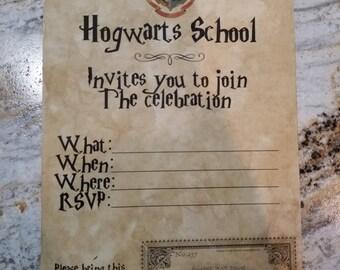 Harry Potter Hogwarts Birthday Invitation