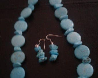 Turquoise beads,round bead, beaded necklace