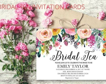 Bridal Tea Party Invitation, Suplime Bridal Tea Invite Template,  Suplime Bridal Tea Bridal Tea, Bridal Tea Party, INSTANT DOWNLOAD, BR-S06