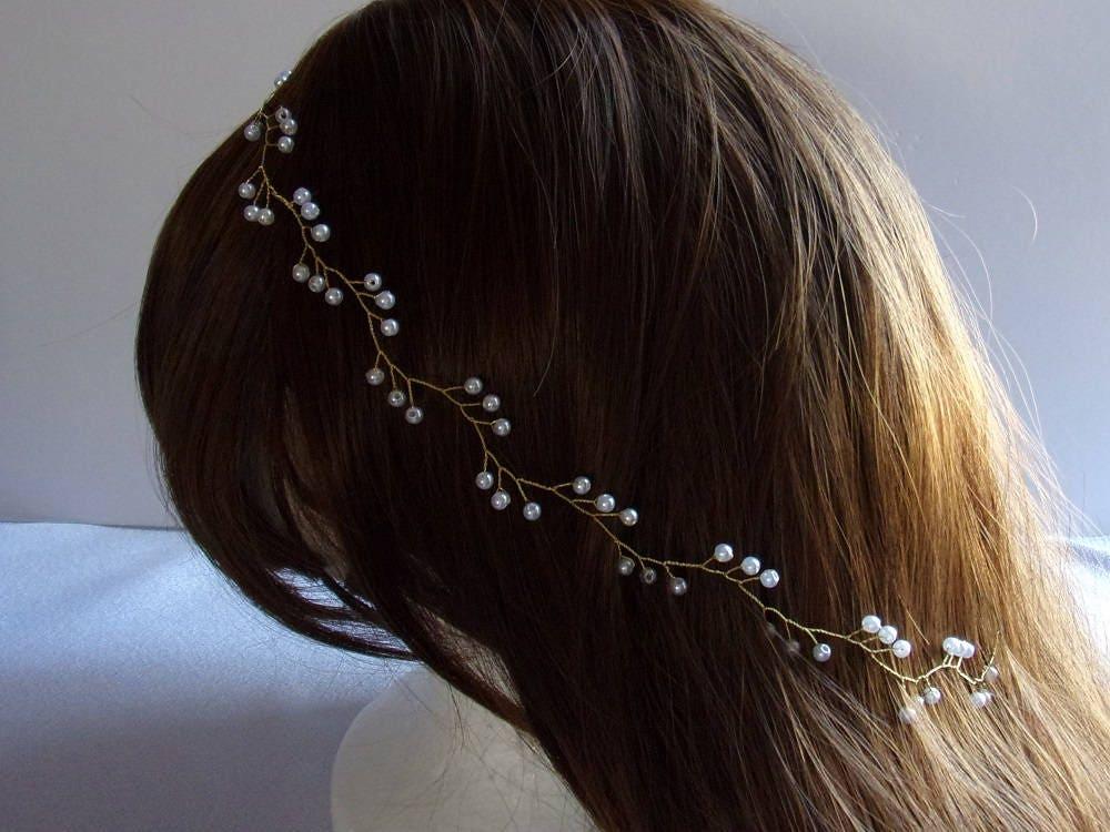vigne de cheveux pour mariage simple avec perles bandeau. Black Bedroom Furniture Sets. Home Design Ideas