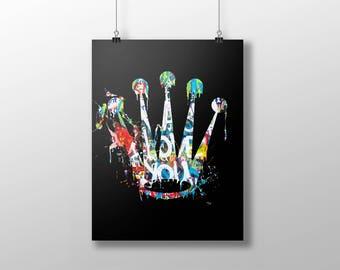 ROLEX art poster, graffiti new york, urban art, hip hop art, fashion art, la art, ny art, timepiece art poster, pop art, trendy art