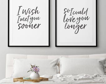 Bedroom Decor  Wall Art Print Set of 2 prints Wedding wall art Etsy