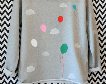 Sweatshirt//balloons//clouds//bio//Fair-Wear//organic//balloons