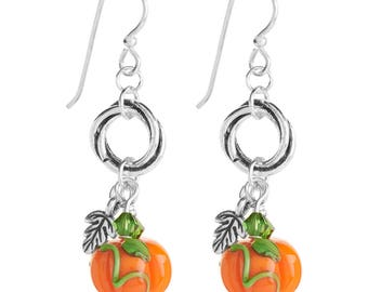 Earrings Kit Pumpkin Patch with Swarovski Crystals