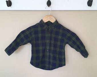 18 Month Elbow Patch Long Sleeve Button Down