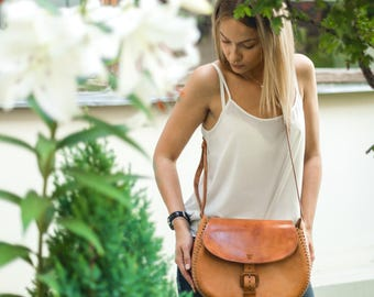 Santa Ana, leather bag, handmade bag, handmade leather bag, shoulder bag, leather bag for women, BOLSON BAGS