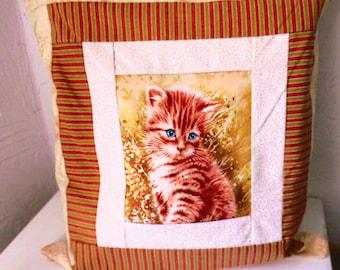 Kitten cat cushion pattern cushion / make hand/S 87