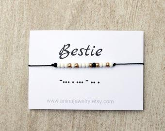 Best Friend Bracelet, Sorority Bracelet, Friendship Bracelet, BFF Gifts, Adjustable Bracelet, BFF Bracelet, Best Friend Gift