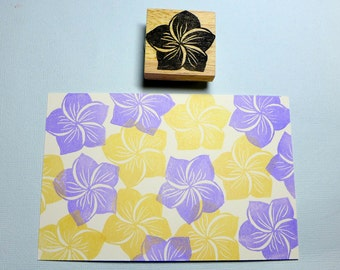 Flower Print Rubber Stamp Set
