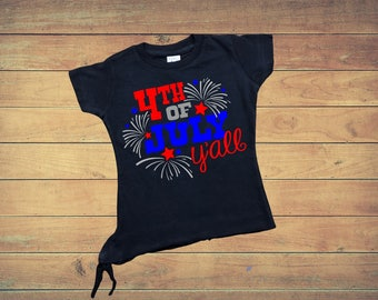 July 4th Toddler Girl T-Shirt 4th of July Funny T-Shirt  Gift For Baby Girl Clothes Future Miss America Girl Top Summer Tee