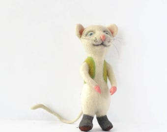 Toy mouse Needle felted mouse Sculpture decoration animal lover gift animal  decor Needle felt animal Art sculpture mouse gift animal doll