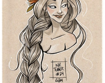 INKTOBER - Rapunzel / tangled