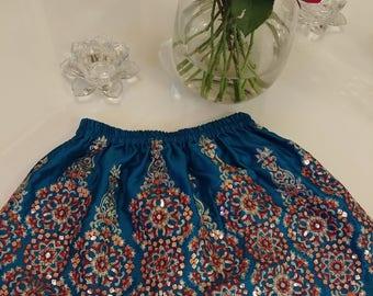 Embellished Satin Skirt