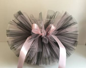 Tutu light pink and black, baby tutu, for baby girl, princess girls, fluffy skirt, newborn tutu, hello world, first birthday