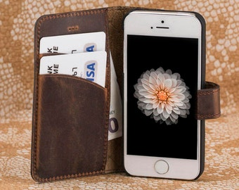 iPhone se Case, iPhone se, iPhone se Wallet, iPhone 5 Wallet Case, iPhone 5 Case Wallet, iPhone 5 Case, iPhone 5s Case, iPhone Cases-BROWN