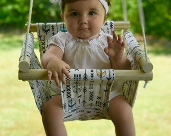 Baby swing, cloth swing, indoor outdoor swing, nursery swing, patio swing, baby shower gift