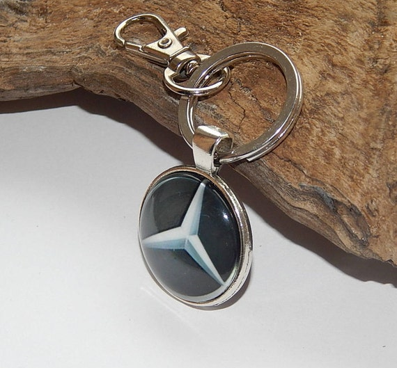 Mercedes benz logo necklace pendant keychain jewelry car logo for Mercedes benz earrings