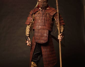 Medieval Mongol Leather FULL Armor Kit; Armor Costume | tatar armor | Leather Armor | Body Armour | Custom Armor | Armor set