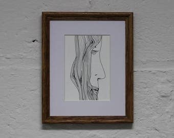 Abstract Face Line Drawing
