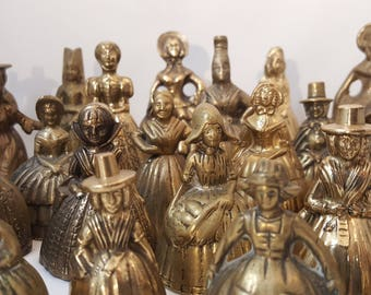 Antique & Vintage Brass Bell Collection (25 bells)