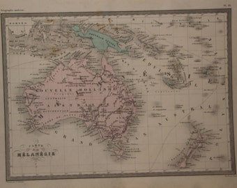 Antique Map Australia 1880