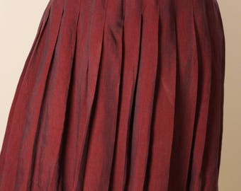 Vintage 1980s Pleated Nieman Marcus Skirt | M