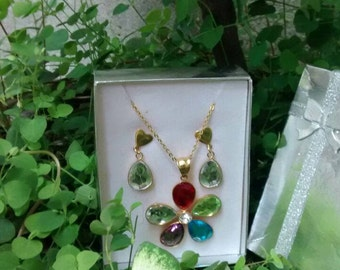 Long necklaces stone long necklaces pendant green necklace women women murano beads necklace