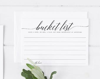 Bucket List Wedding cards Bucket List cards Bucket Printable cards Wedding Guestbook Bucket Card Guestbook Bucket Bucket List cards #WP30