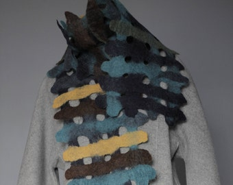 Women's Merino Wool Felted Scarf