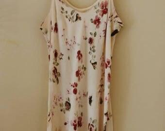 90s Watercolor Floral Slip Dress