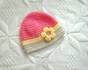 Crochet girl's hat