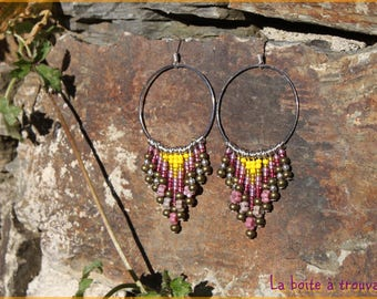 "Earrings ""Sun waterfall"""